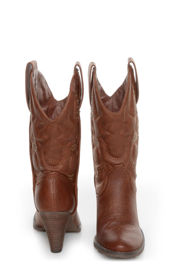 Very Volatile Dallas Brown Embroidered Cowboy Boots at Lulus.com!