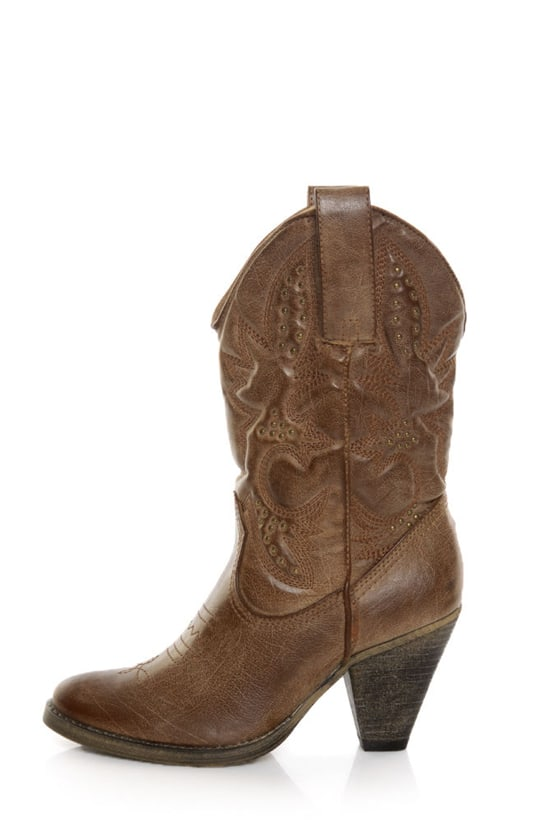 Very Volatile Denver Tan Embroidered Cowboy Boots at Lulus.com!