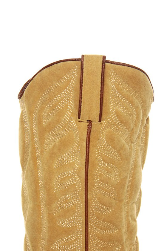 Very Volatile Ingrain Brown Two-Tone Embroidered Cowboy Boots at Lulus.com!