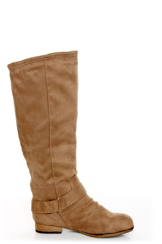 Diva Lounge Tosca 01A Taupe Knee High Riding Boots