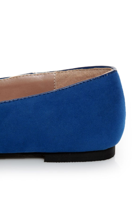 Yoki Frida Blue Tassel Smoking Slipper Flats at Lulus.com!