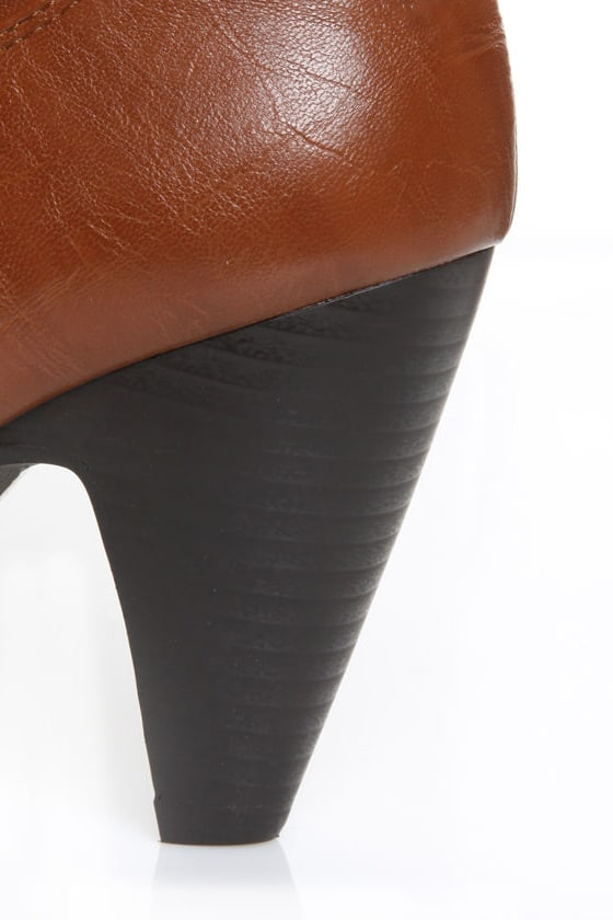 Yoki Sylvia 84 Rust Buckled High Heel Boots