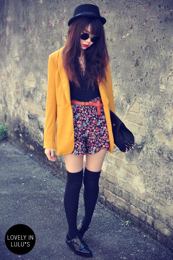 Sunny Disposition Golden Yellow Blazer at Lulus.com!