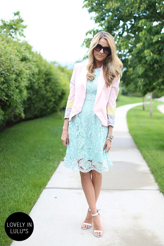 Genteel Breeze Backless Mint Lace Dress at Lulus.com!