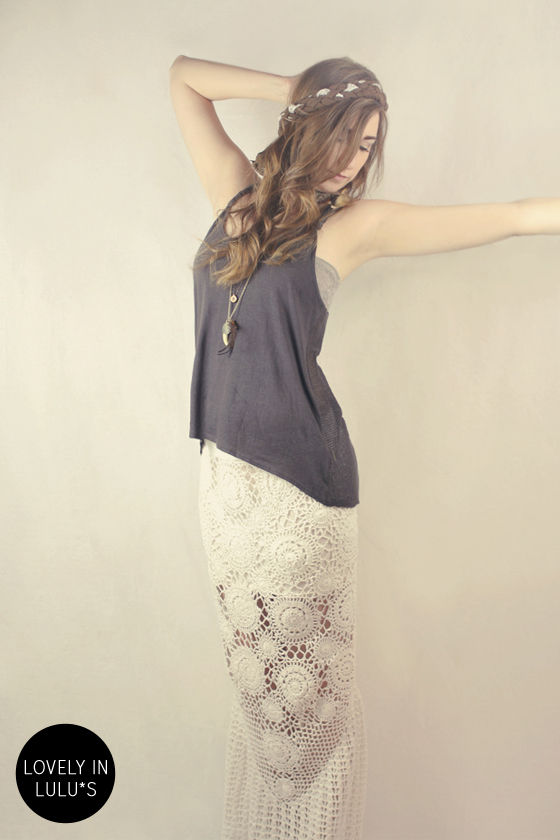 Billabong With Luv White Crochet Maxi Skirt at Lulus.com!