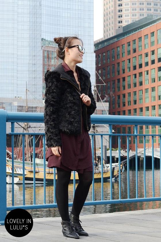 Tokyo Tower Black Faux Fur Jacket at Lulus.com!