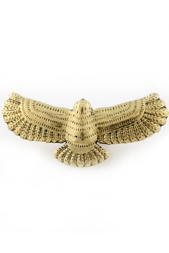 Ad Hawk Gold Bird Ring
