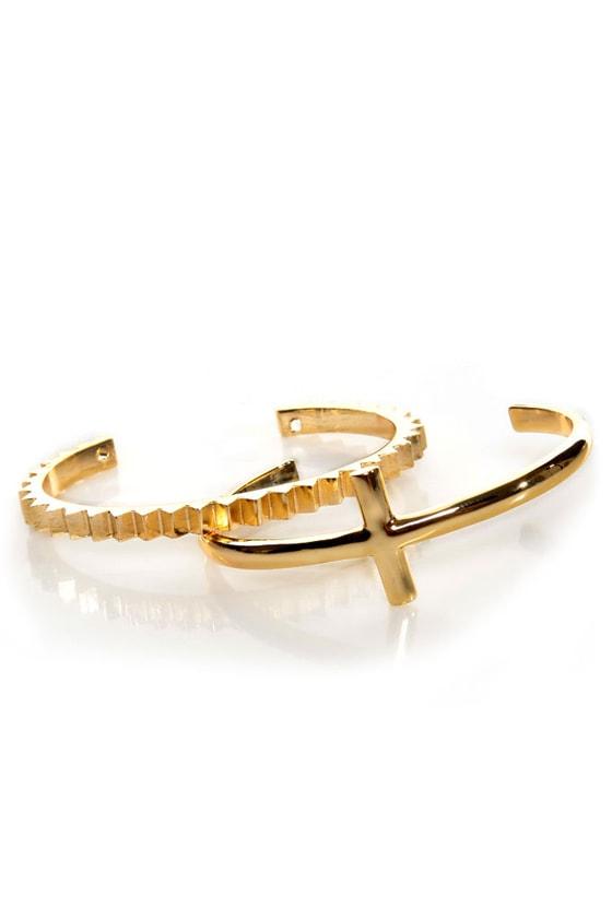 Geary Street Gold Bracelet Set