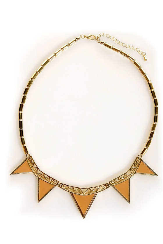 Don't Look Back in Angles Gold Collar Necklace