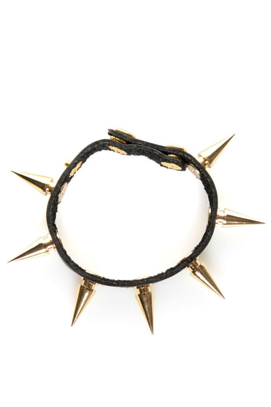 Be Like Spike Black Bracelet