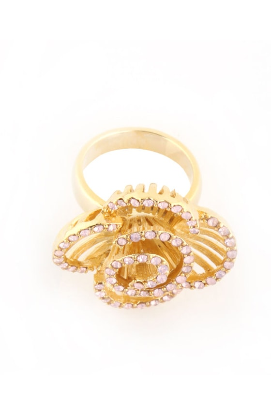 Flower Shower Gold Ring