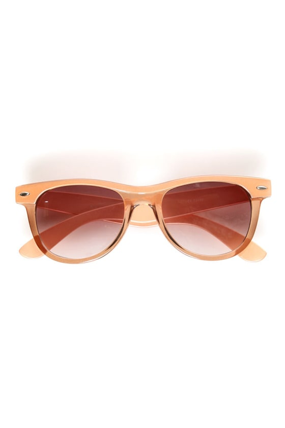Say What Peach Sunglasses