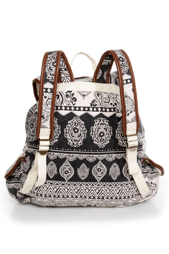 Billabong Drift Away Paisley Print Backpack at Lulus.com!