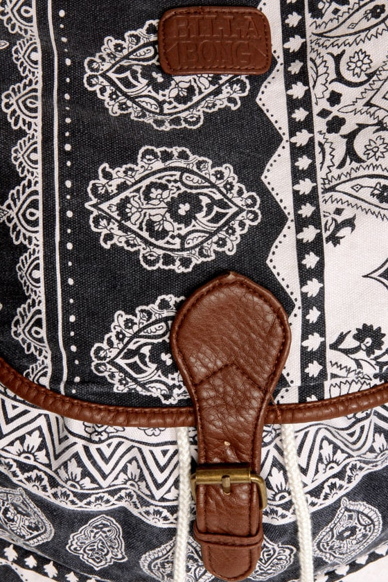 Billabong Drift Away Paisley Print Backpack
