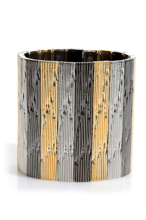 Metal on Metal Stretch Cuff