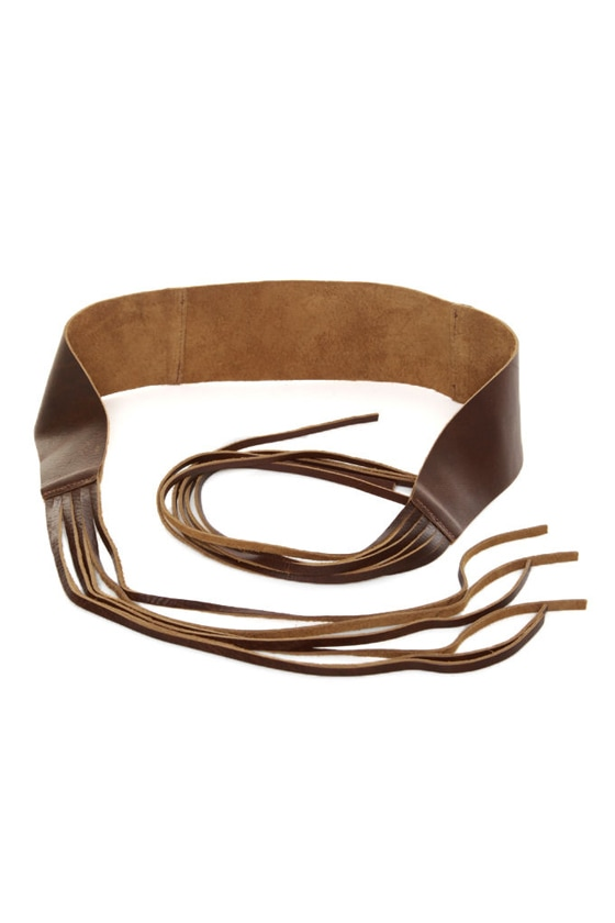 genuine leather belt brown belt fringe belt 37 00