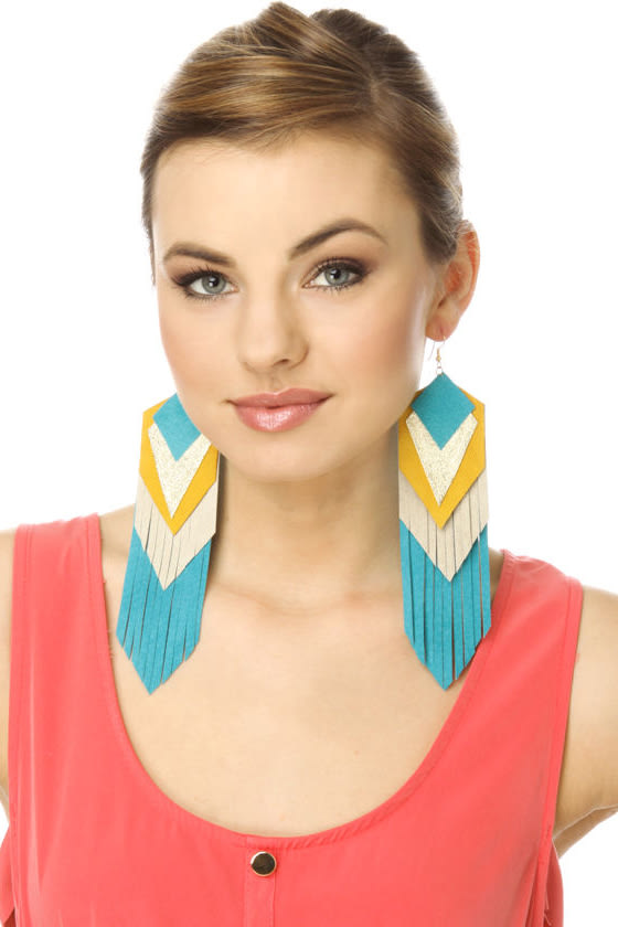 Claire Fong Magician's Secret Turquoise Earrings