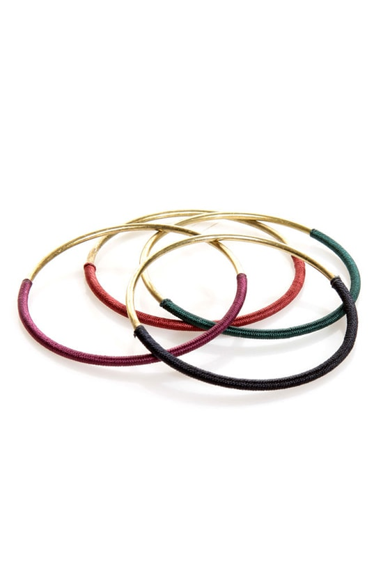 Thread-y to Roll Bangle Set at Lulus.com!