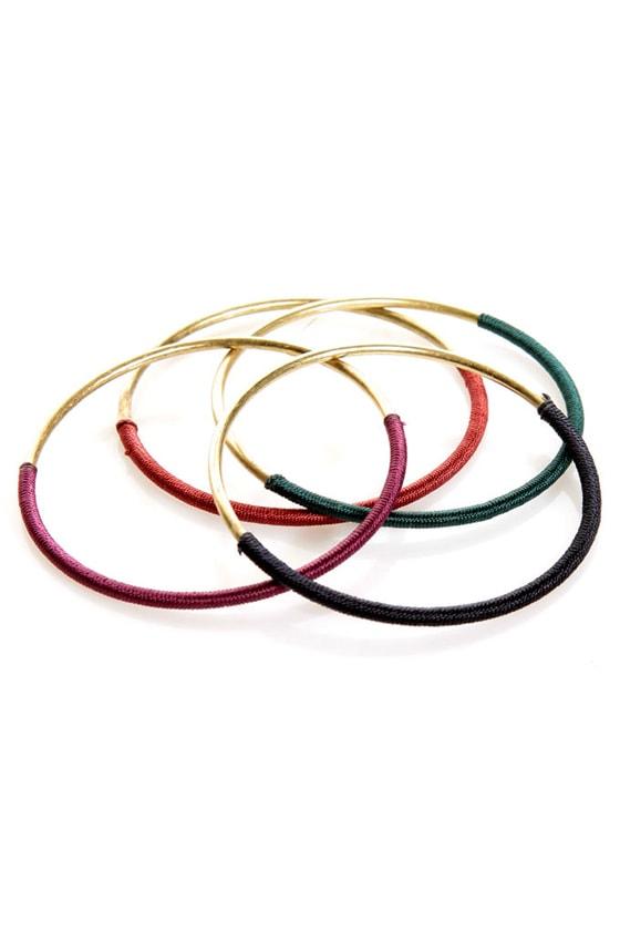 Thread-y to Roll Bangle Set