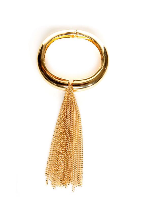 Flair-stream Gold Cuff Bracelet
