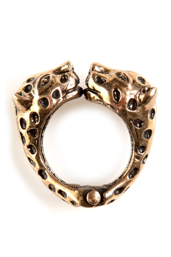 Born to be Wild Cats Gold Leopard Ring