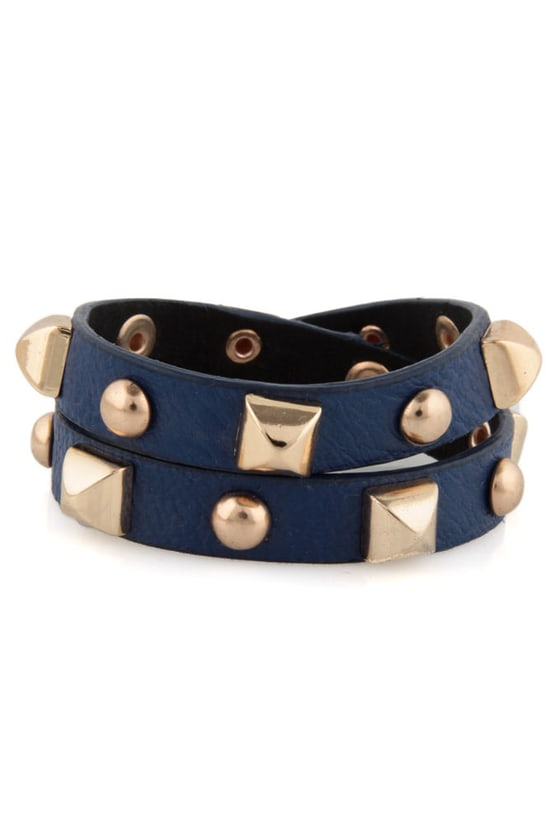 Backstage Pass Studded Blue Cuff