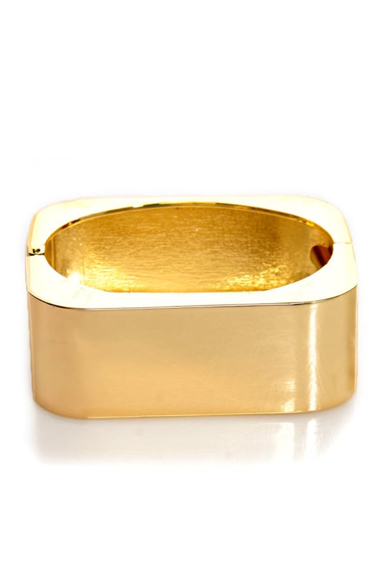 Cuff Around the Edges Gold Cuff Bracelet at Lulus.com!