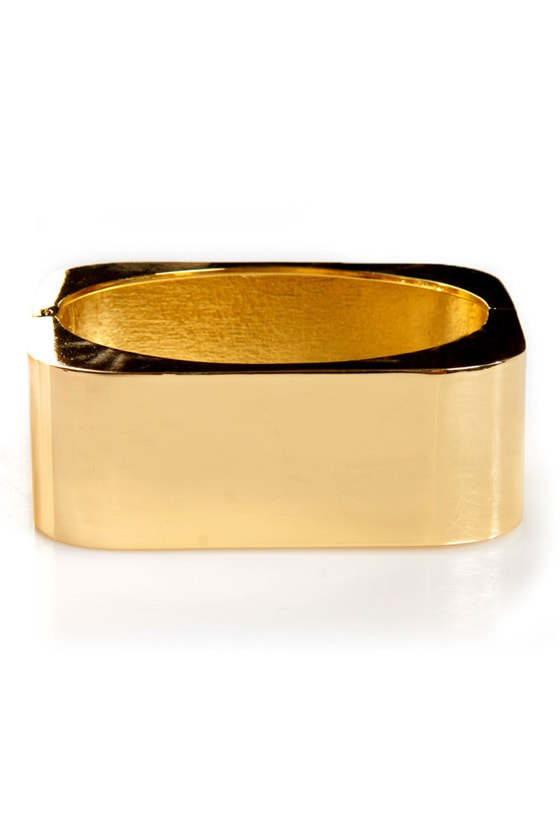 Cuff Around the Edges Gold Cuff Bracelet