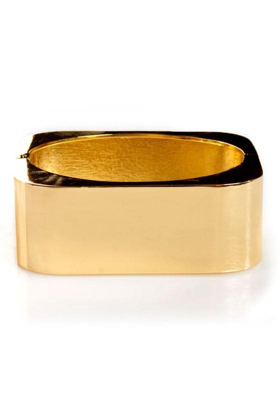 Cuff Around the Edges Gold Cuff Bracelet