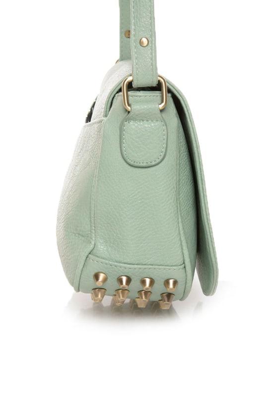 Adorb Knobs Studded Mint Green Purse