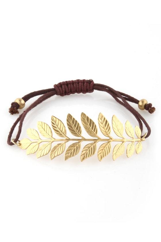 Sprig It Gold Laurel Bracelet
