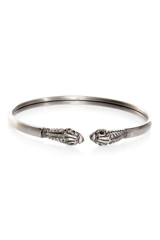 Beast Buddies Silver Clutch Bracelet at Lulus.com!