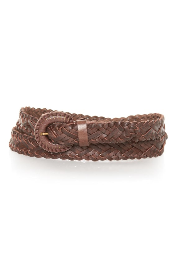 Over and Down Under Braided Brown Belt at Lulus.com!
