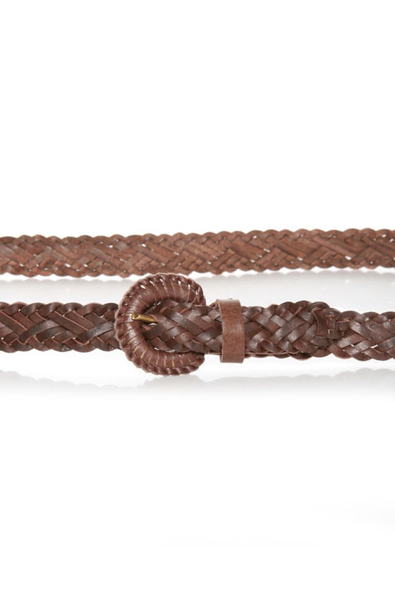 Over and Down Under Braided Brown Belt