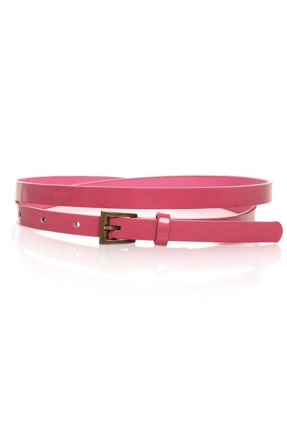 Yum Bubble Gum Pink Skinny Belt