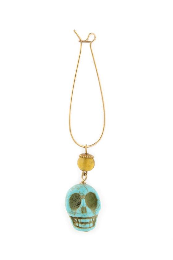 Dead Ringer Turquoise Skull Earrings