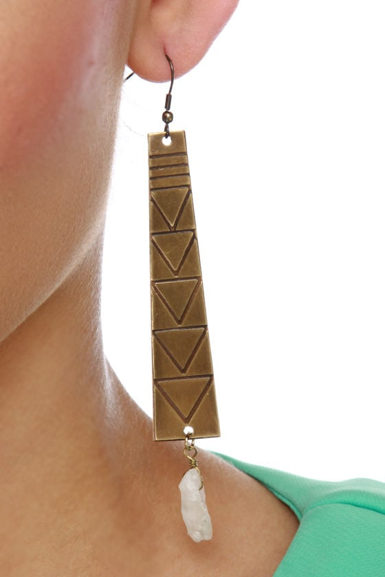 Machu Picchu Bronze Earrings