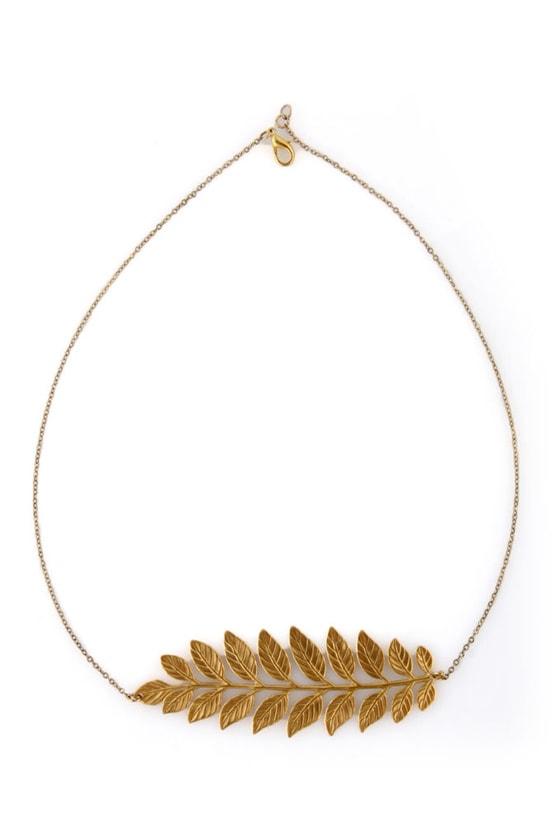 Twig Time Gold Leaf Necklace