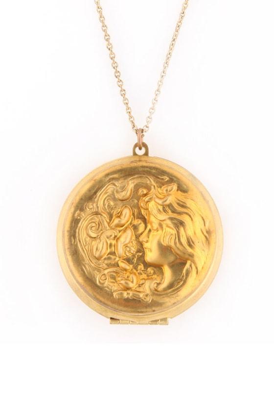 Elizadora Gold Locket Necklace