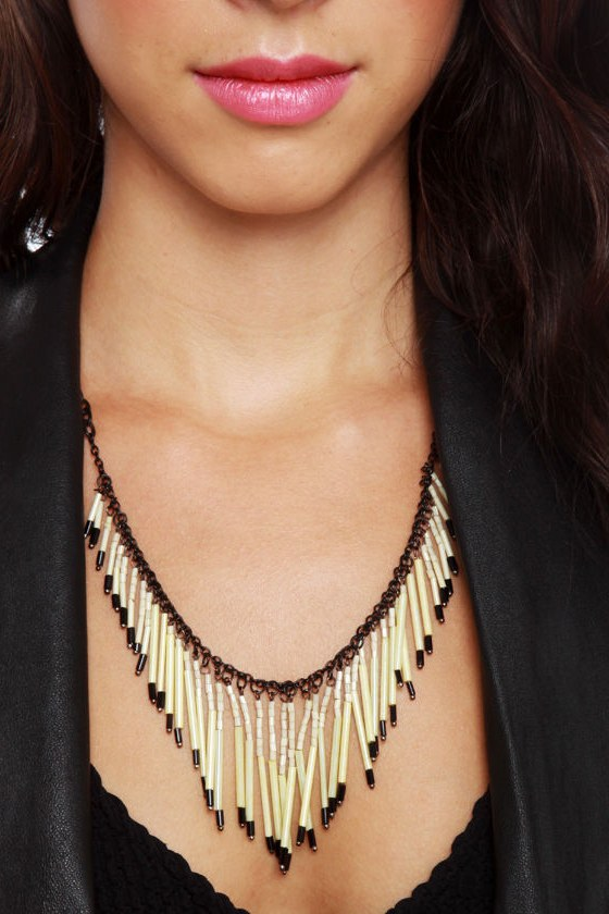 Fringe Philosophy Ivory Beaded Necklace at Lulus.com!