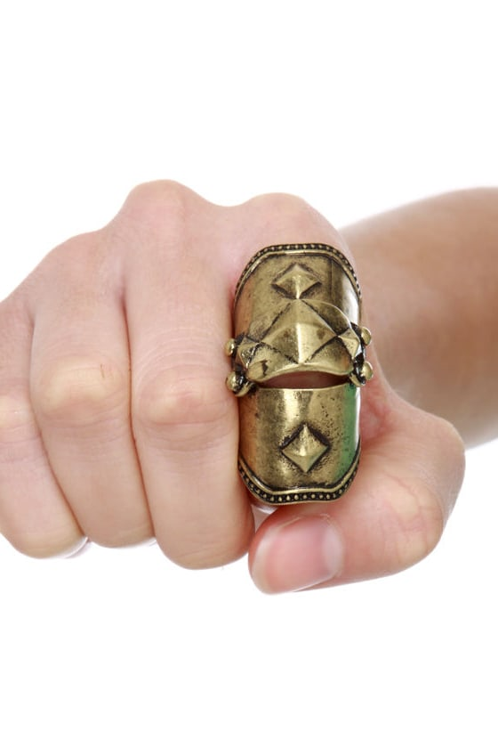 All for One Gold Knuckle Ring