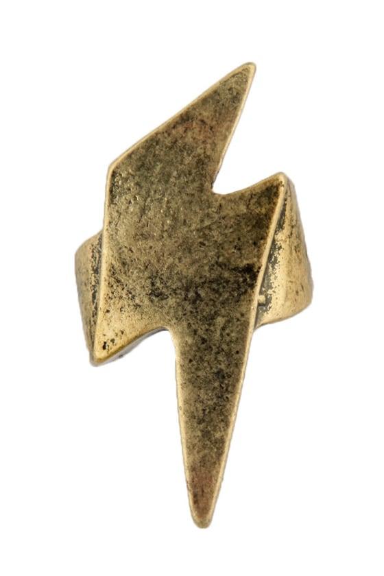 May Lightning Strike Gold Ring