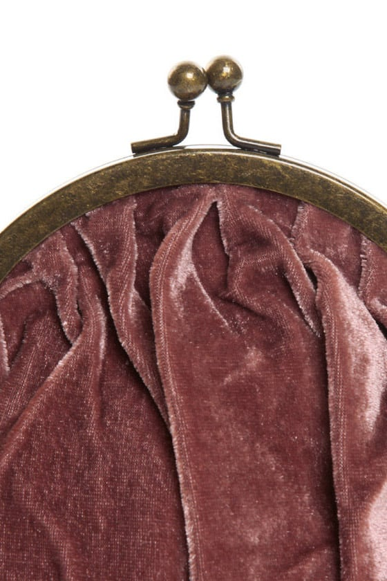 Mauve-ing On Up Velvet Purse