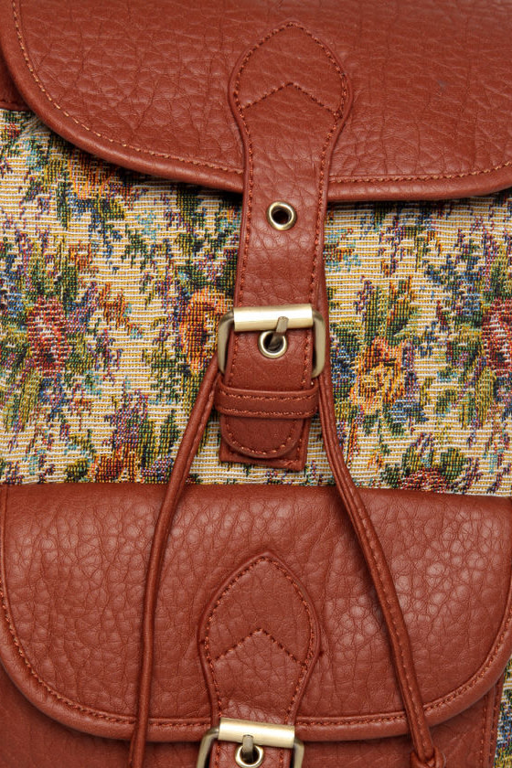 Pack to the Future Tapestry Floral Backpack at Lulus.com!