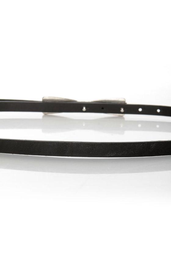 Decoration of Independence Skinny Black Bow Belt