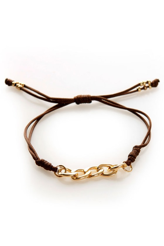 Link Out Loud Brown and Gold Friendship Bracelet