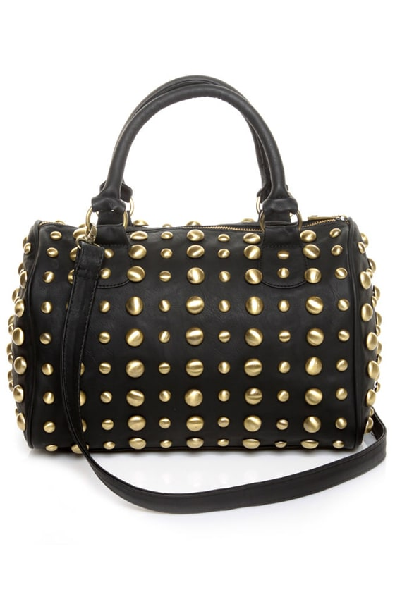 Looking for Studs Black Handbag