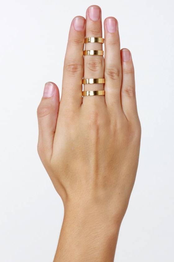bbe3362169 Cool Ring Set - Gold Rings - Stacking Rings - $12.00