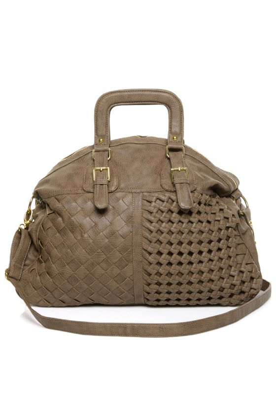 Woven Rover Brown Handbag by Urban Expressions