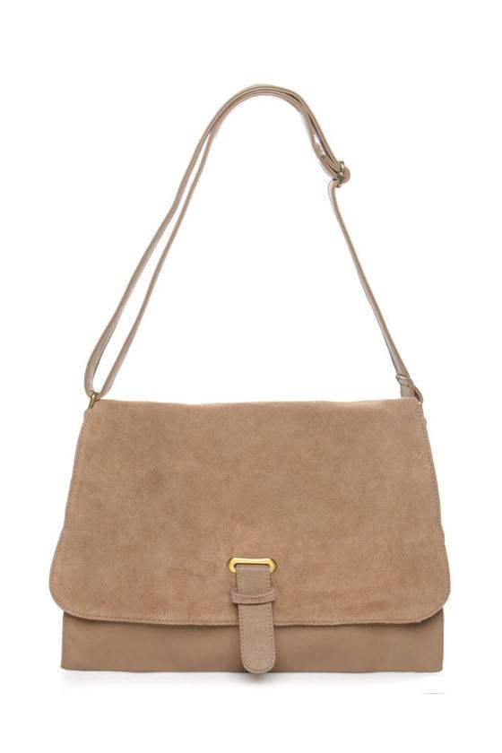 Smooth as Butter Taupe Handbag